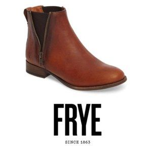 Frye Womens Brown Carly Chelsea Leather Boot Sz 10